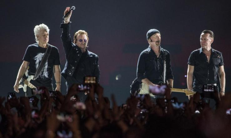 U2 concert in Mumbai, India, 2019.