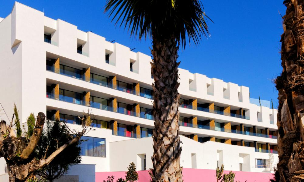The view from here: all 50 bedrooms at the Hotel Ola have a view of the ocean.