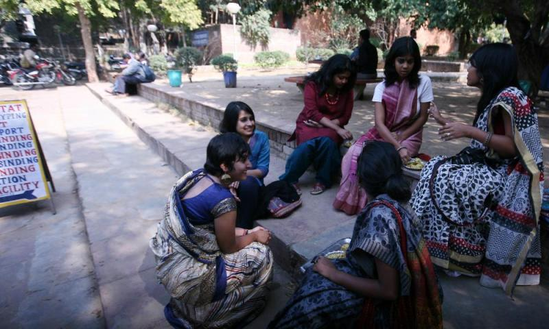 Students at Jawaharlal Nehru University.