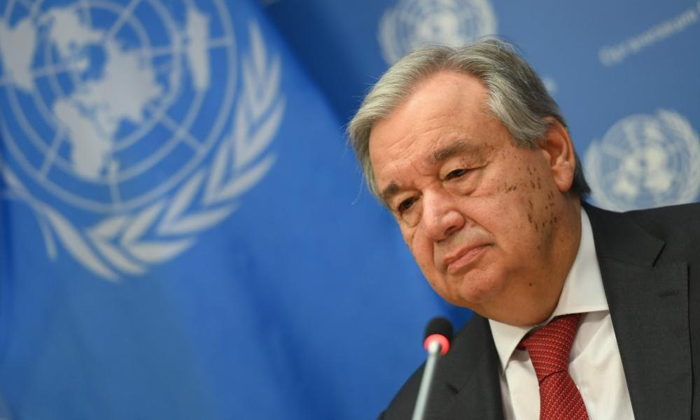 United Nations Secretary General Antonio Guterres.