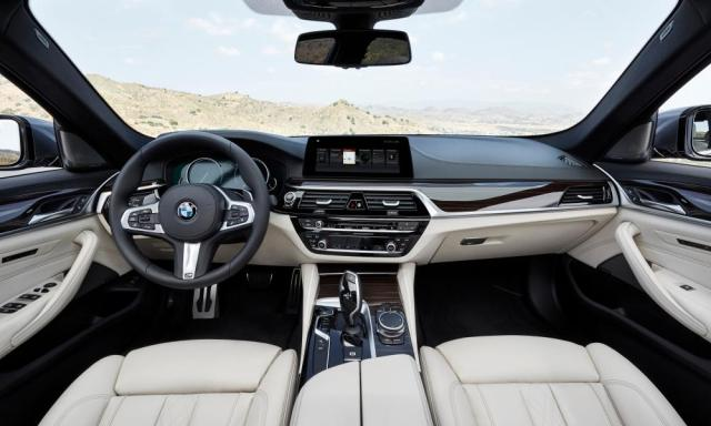 Ground control: the luxurious and driver-centred cockpit of the new 5-Series.