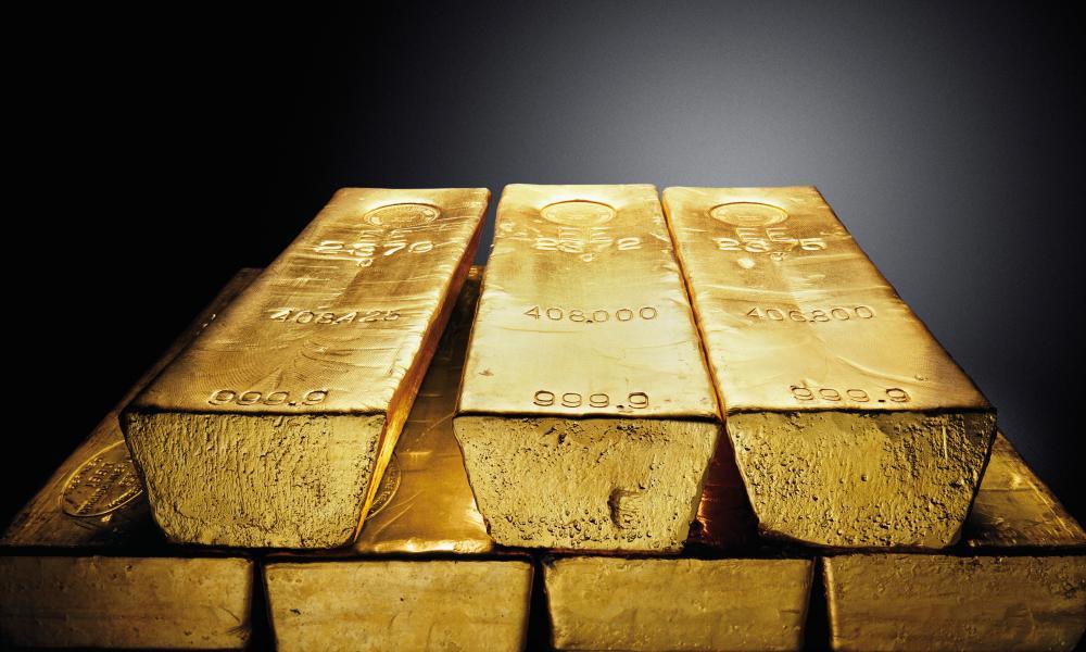 Gold bars, Ingots, Bullion by Chris Collins/zefa/Corbis