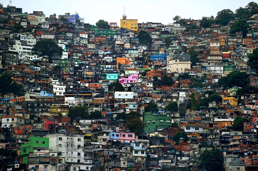 Rocinha favela en Rio de Janeiro.