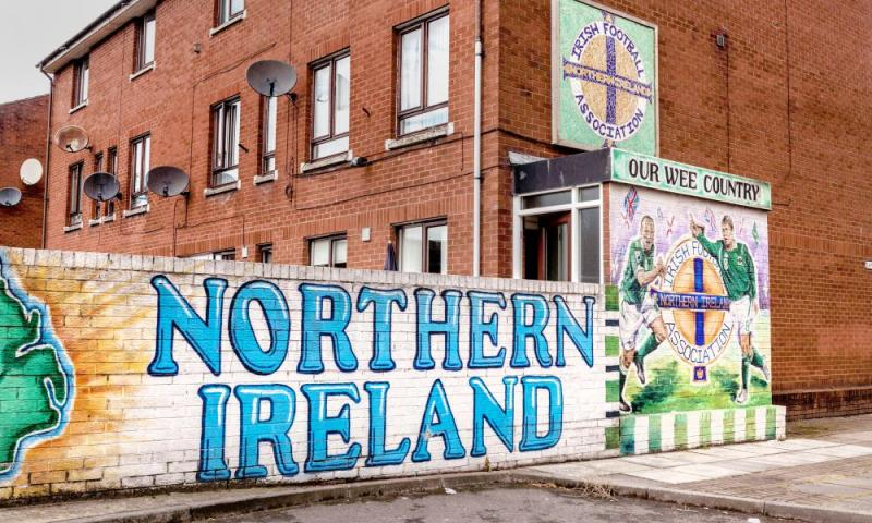Sandy Row in Belfast.