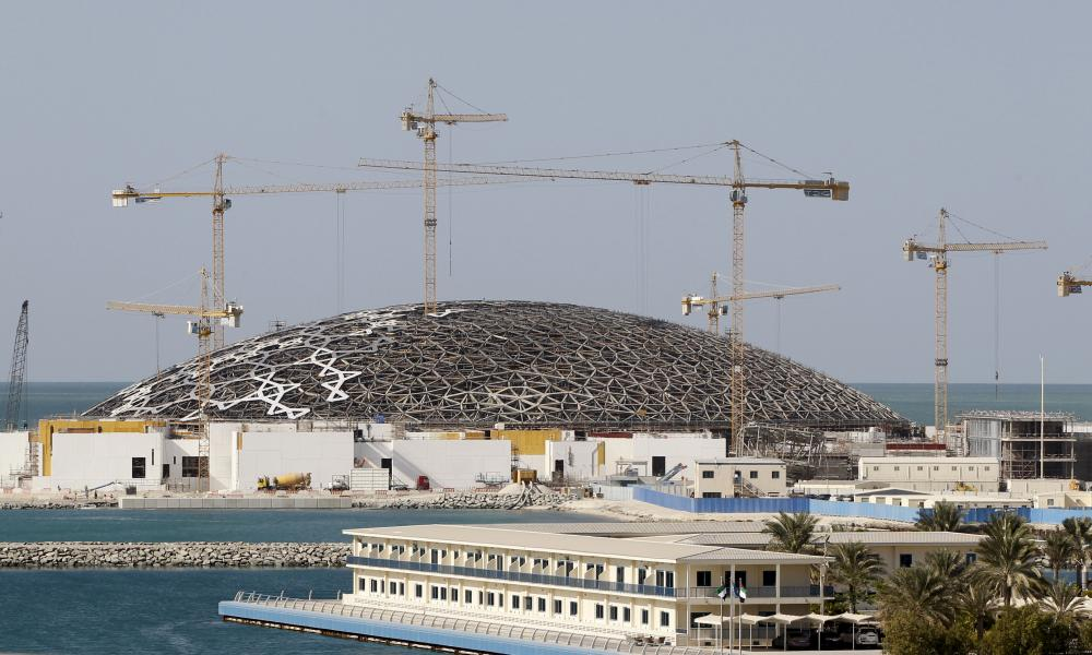 The construction site of the Louvre Abu Dhabi, pictured in November 2014.