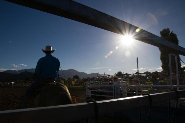 The national final rodeo in Wanaka, New Zealand.