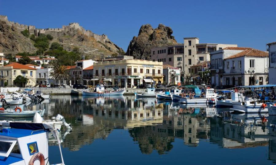 Myrina harbour.