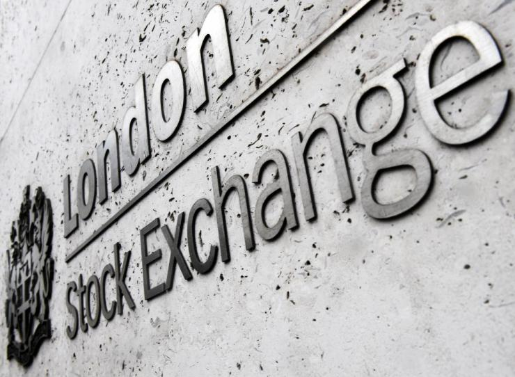 The London Stock Exchange (LSE) in London.