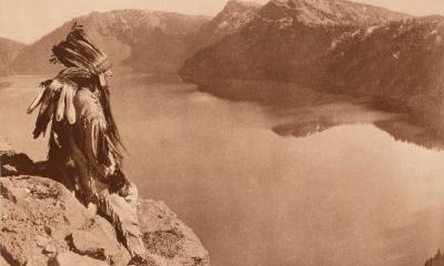 Crater Lake by Edward Curtis, 1923