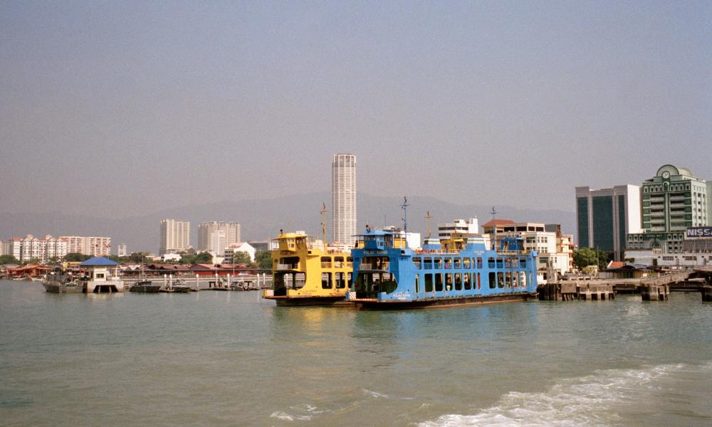 Ferries taking passengers from Butterworth to George Town, Penang, Malaysia.