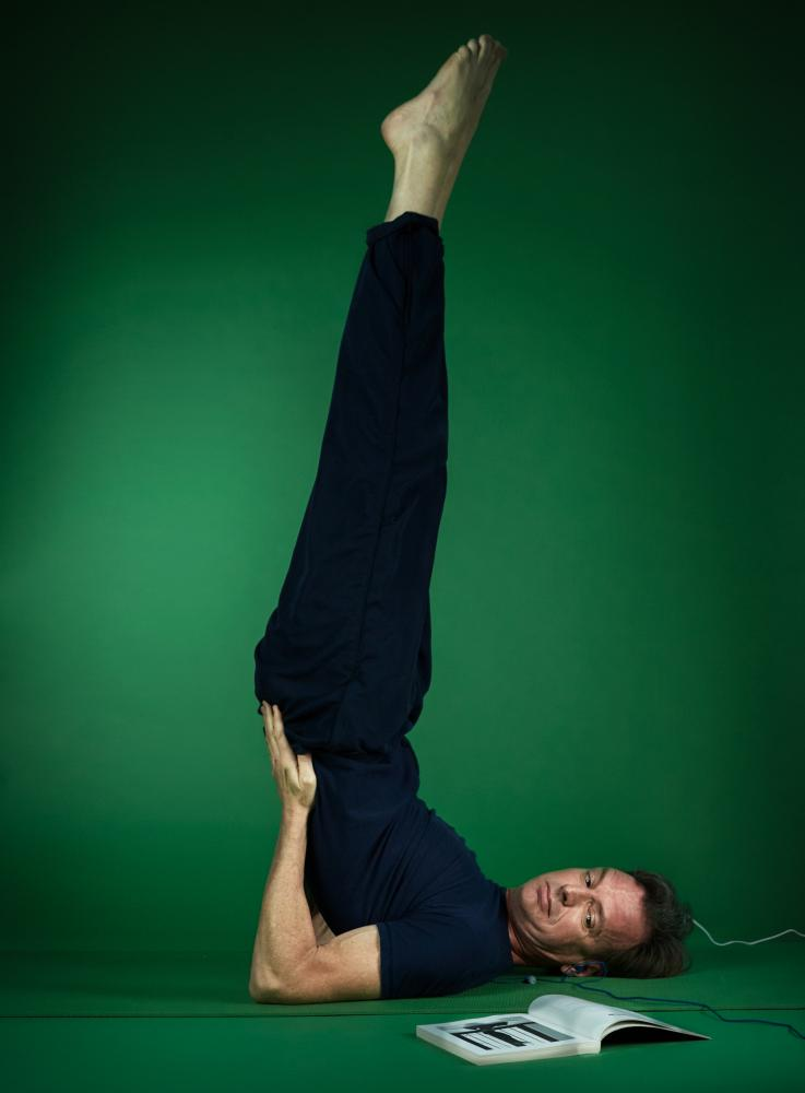 Tim Dowling doing yoga