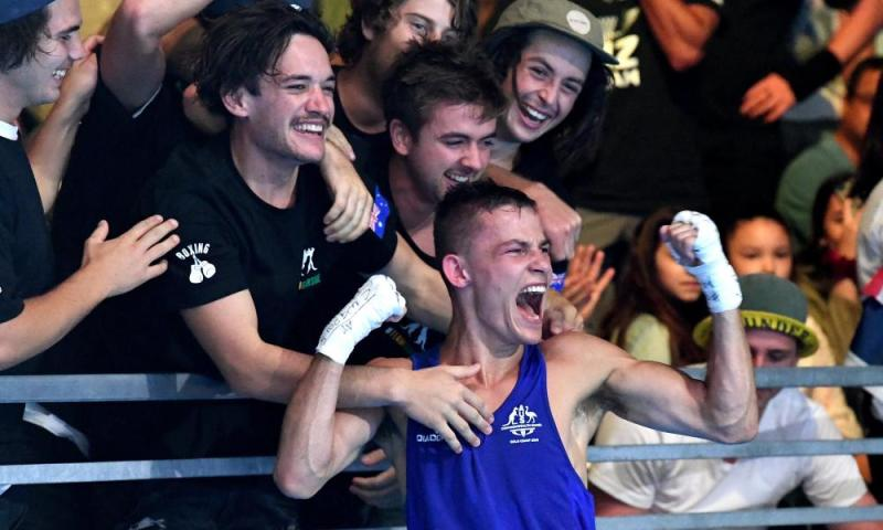 Australia's Harry Garside celebrates gold