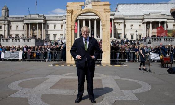 Boris Johnson and Palmyra's Arch of Triumph
