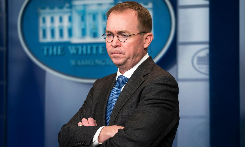 The White House chief of staff, Mick Mulvaney