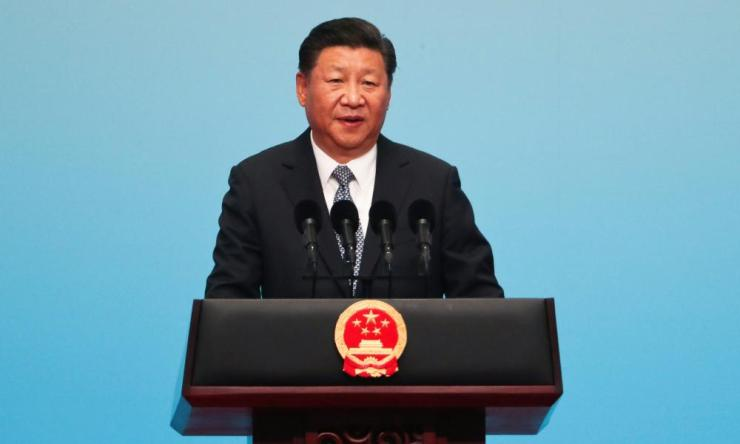 2017 BRICS Summit in Chinaepa06180529 Chinese President Xi Jinping speaks during the opening ceremony of the BRICS Business Forum at the Xiamen International Conference and Exhibition Center in Xiamen in southeastern China's Fujian Province, 03 September 2017. The ninth BRICS (Brazil, Russia, India, China and South Africa) Summit in Xiamen runs from 03 to 05 September. EPA/Mark Schiefelbein / POOL