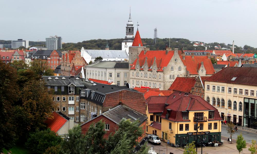 Panoramic view over Aalborg