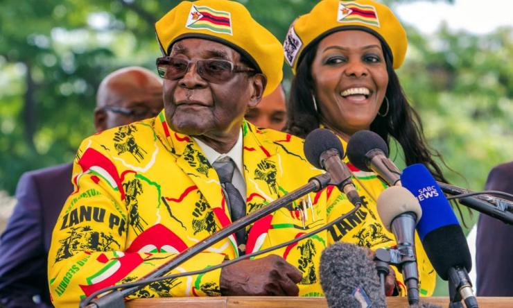 Robert Mugabe addressing party members earlier this month in support of Grace Mugabe becoming the party's next vice-president.