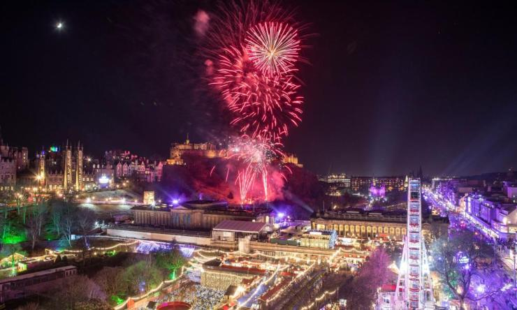 Fireworks are let off from Edinburgh Castle as part of the Hogmanay New Year celebrations in Edinburgh.
