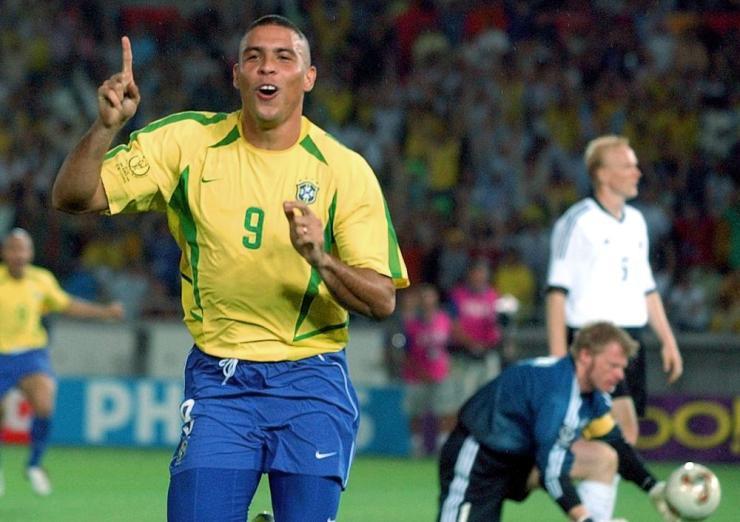 Ronaldo celebrates.