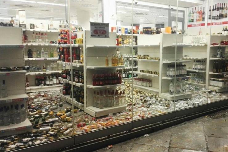 A liquor store in Kos.