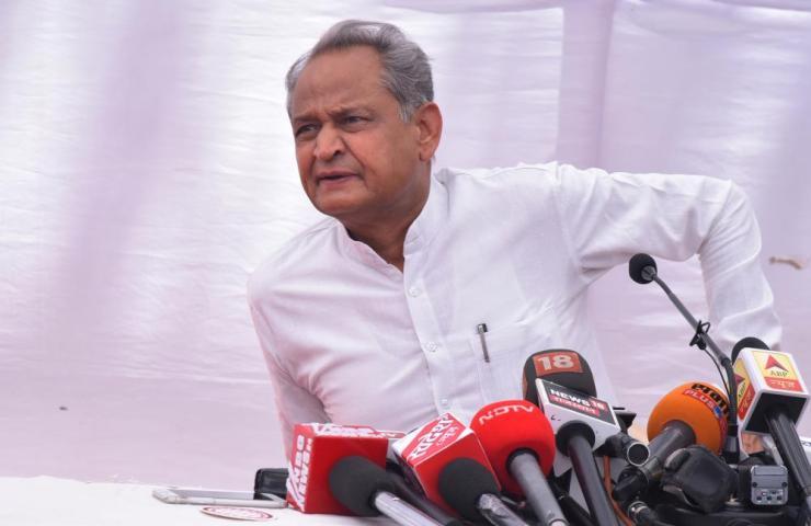 Rajasthan's chief minister Ashok Gehlot