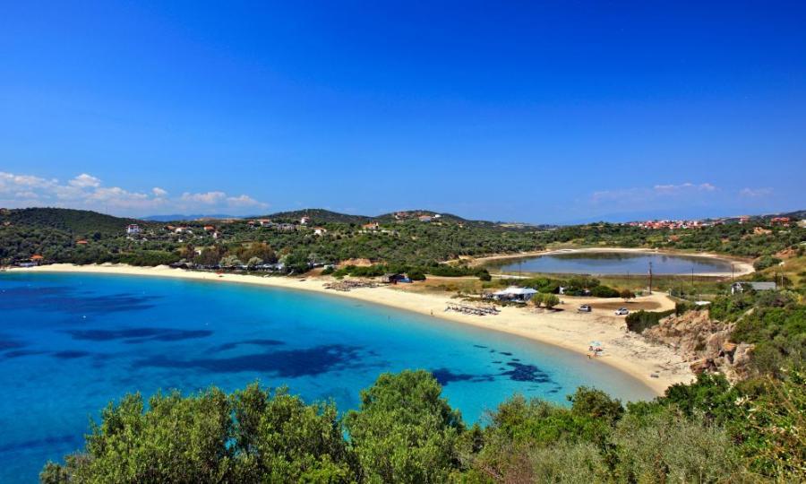 Alykes beach, Ammouliani.