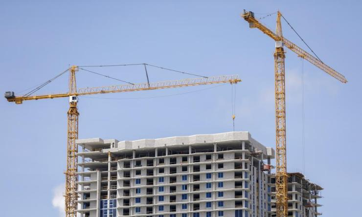 Officials have expressed concerned that cranes dotting the Miami skyline are not designed to withstand Irma's category 5 winds.
