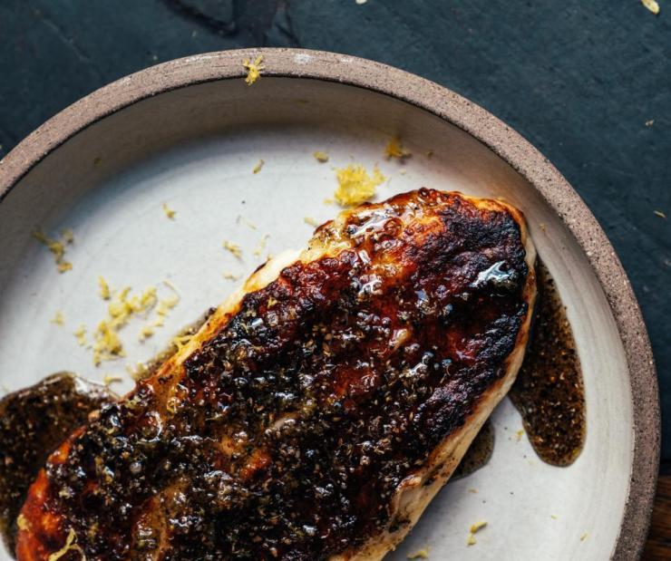 Bubala's halloumi with black seed honey, by Helen Graham