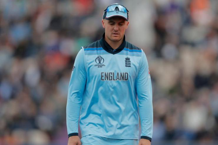 England's Jason Roy looks dejected as he leaves the pitch.