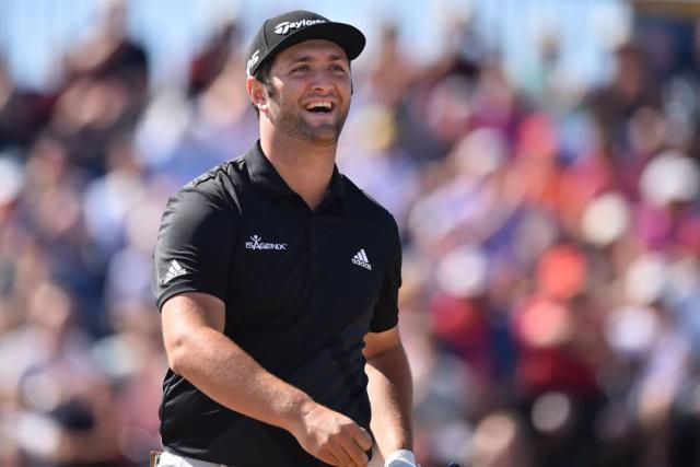 Rahm, happy with an opening round of 69.
