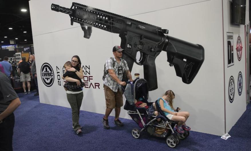 Attendees at the NRA convention in Atlanta in April.