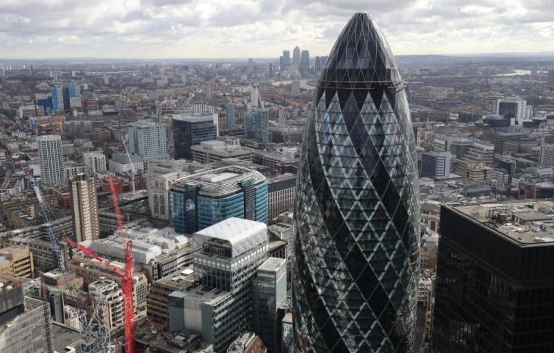 The London skyline.