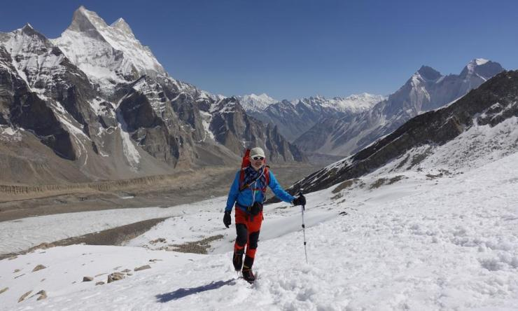 Malcolm Bass on expedition to Janhukot in 2018.