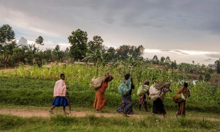 Women walking in Butembo, North Kivu province, DRC.