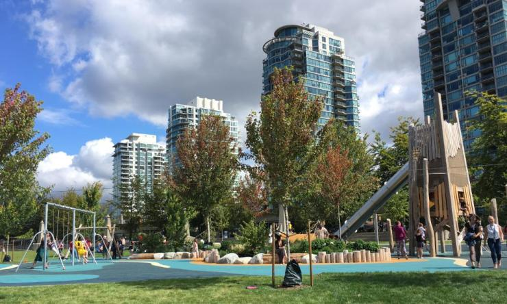 Creekside Park playground, Vancouver