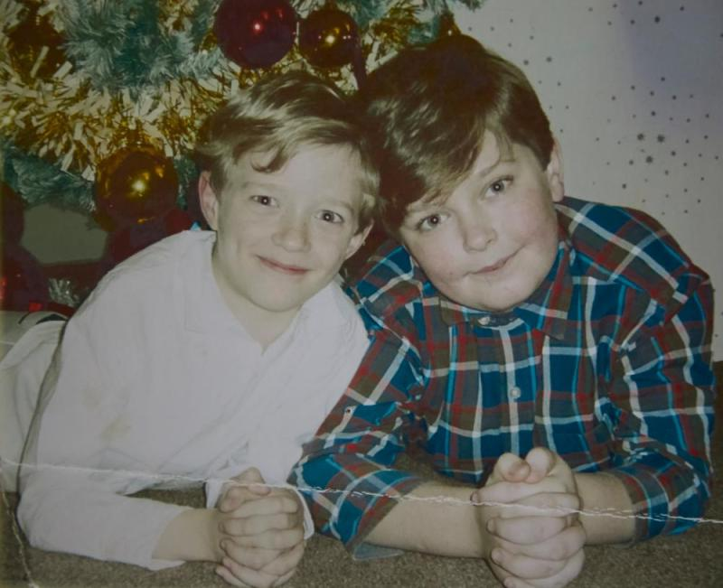 On of the few photographs Claire has of Jack and Paul
