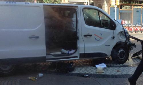 The van thought to be the one involved in the attack.