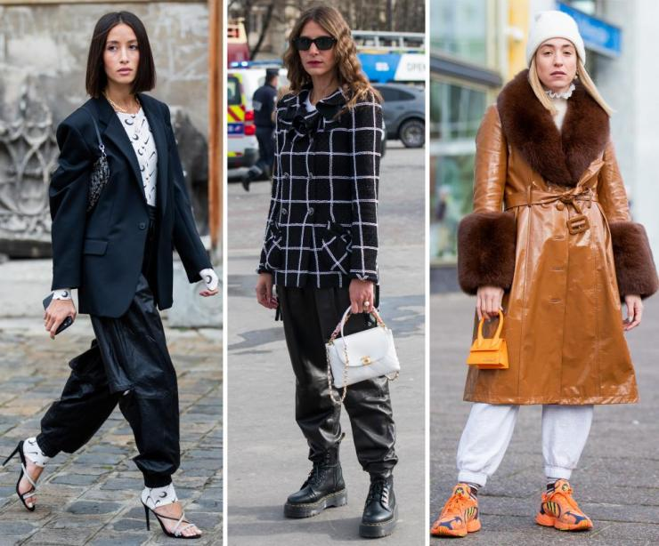 From left: Alexandra Guerain and Jen Azoulay, both at Paris Fashion Week, and Sonia Lyson at Berlin Fashion Week