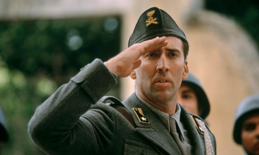 Nicolas Cage in Captain Corelli's Mandolin.