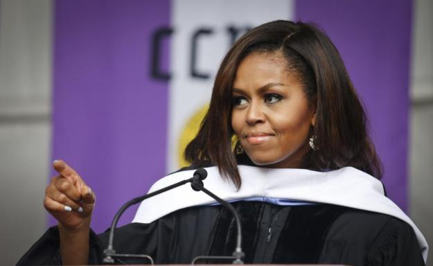 Michelle Obama speaks to members of the class of 2016 in her final commencement speech as first lady.