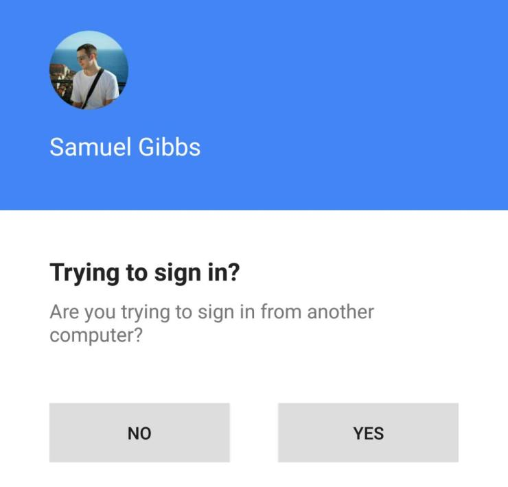 Google's two-step notification on Android