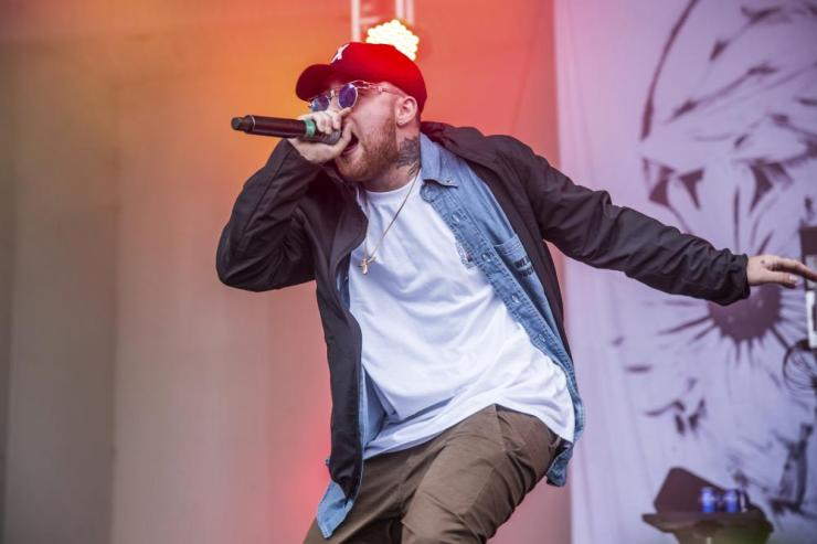 Mac Miller performs at Lollapalooza in Chicago.