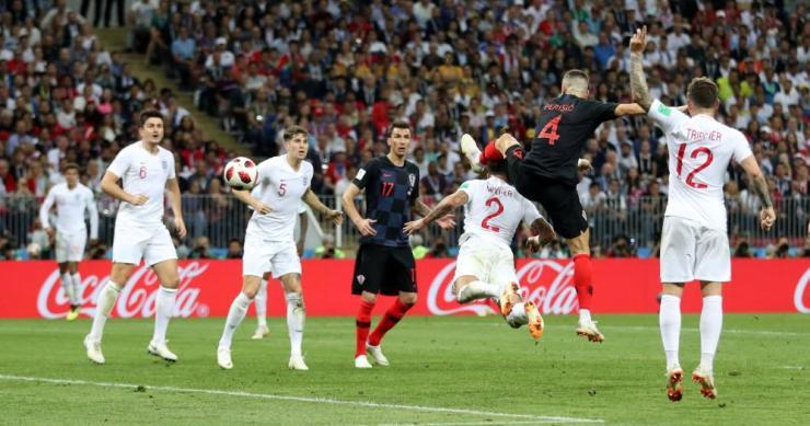 Croatia's Ivan Perisic scores their first goa