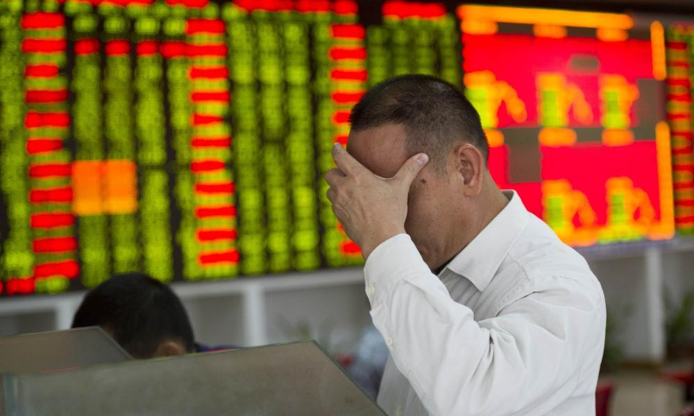 A trader in Nanjing, China, today.