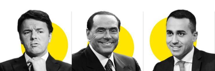 Renzi, Berlusconi and Di Maio.