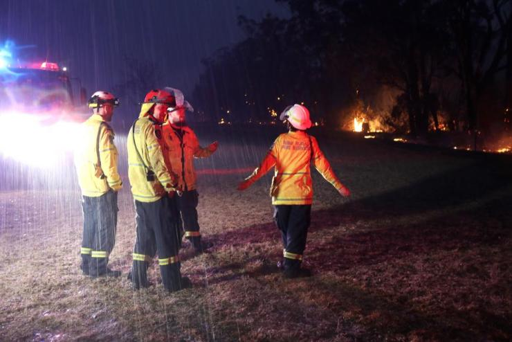 RFS crews celebrate the rain