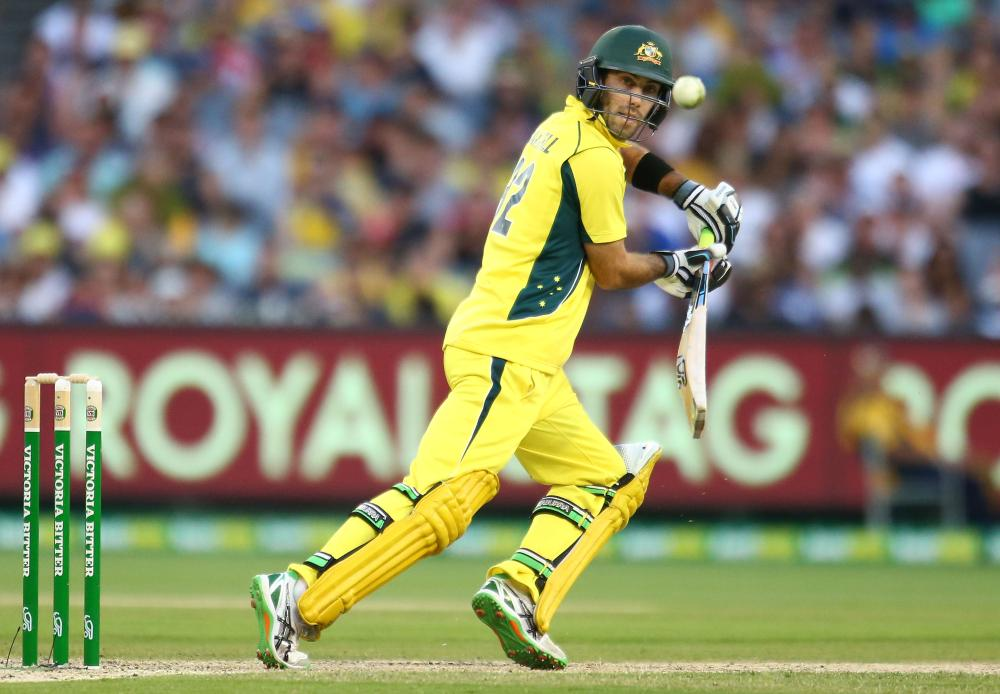 Glenn Maxwell has batted with maturity and finesse so far in the Australian chase.