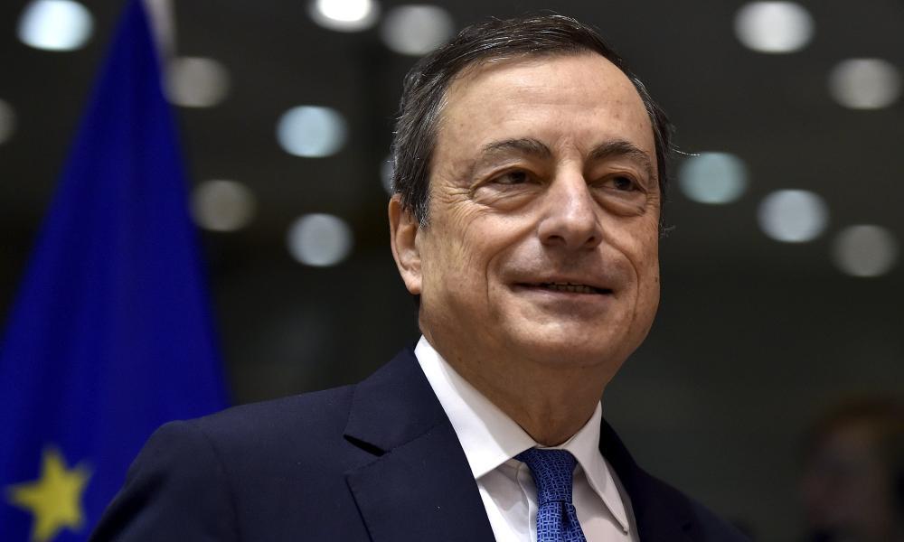 The European Central Bank president, Mario Draghi