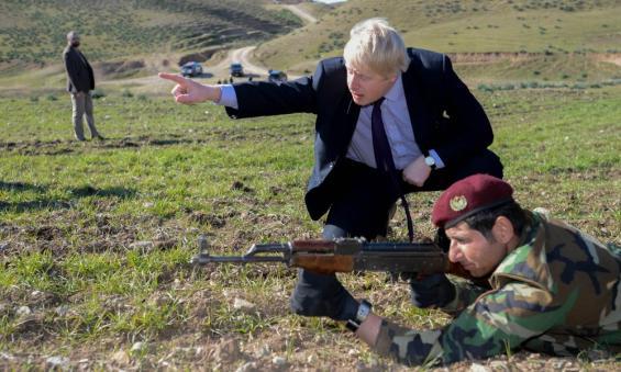 Boris Johnson in Kurdistan