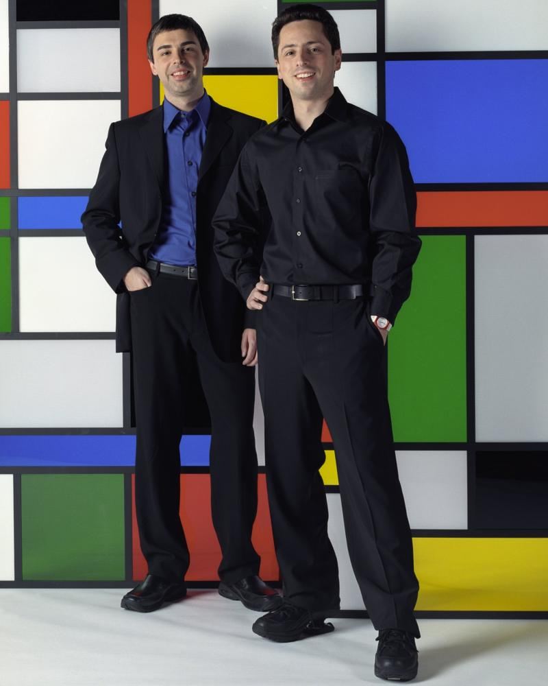 Google co-founders Larry Page and Sergey Brin in 2002.